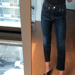 Rag and Bone Cropped dark wash - sz 27